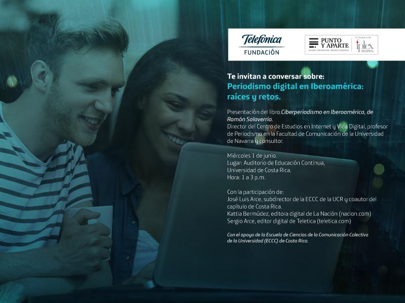 El experto en periodismo digital, Ramón Salaverría, recalcó que el periodista tiene que trabajar de la mano de la tecnología durante la presentación de su libro en la ECCC UCR.Nicole Fonseca/ECCC.