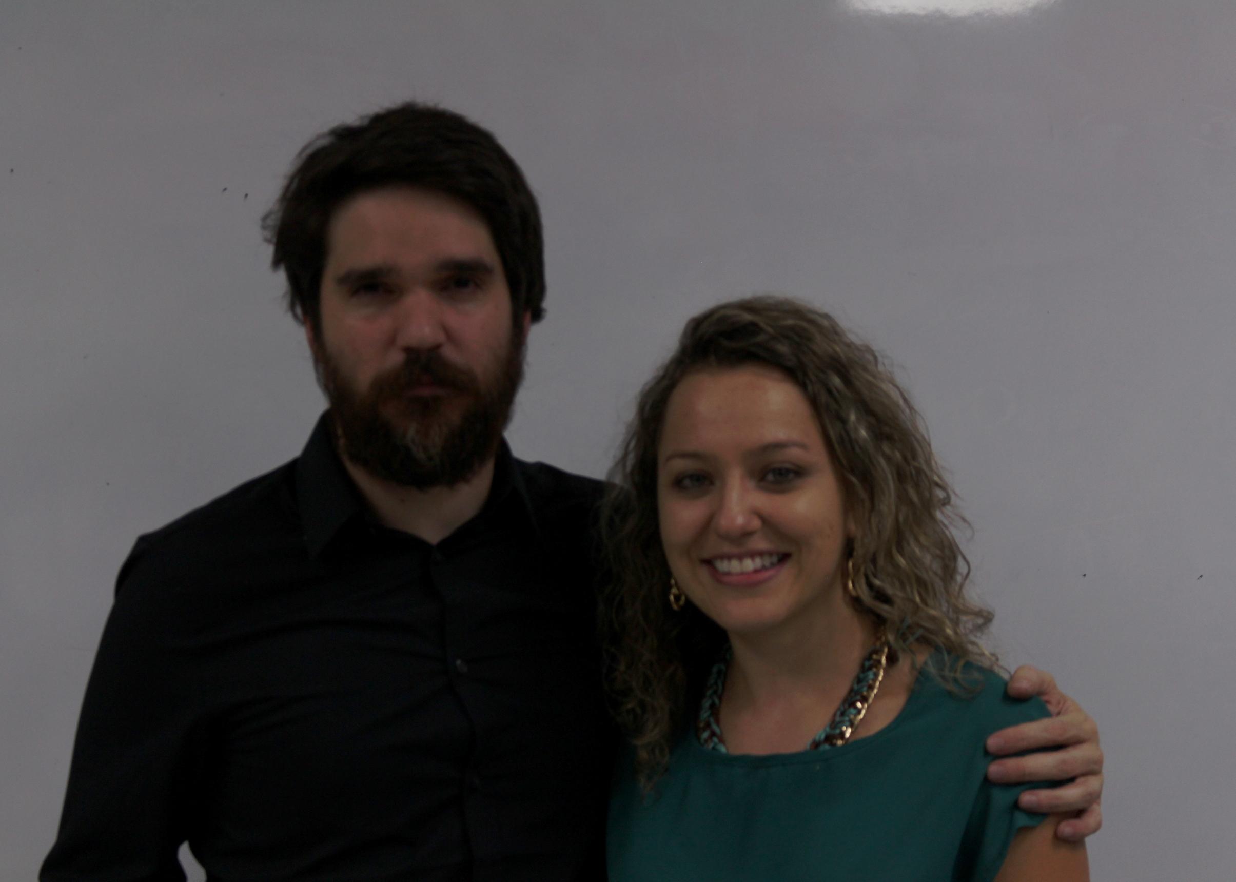 Diego Delfino y Natalia Rodríguez fueron las personas emprendedoras en periodismo nacionales que asistieron al conversatorio en la ECCC de la UCR. Walter Quesada Montero/ECCC.