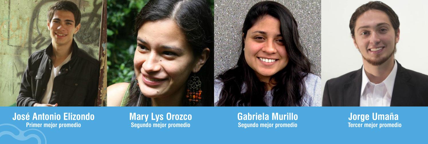 Gabriela, Jorge, José y Mary son cuatro amigos y estudiantes ECCC que obtuvieron los mejores promedios durante el 2015. Sak Calderón/ECCC.