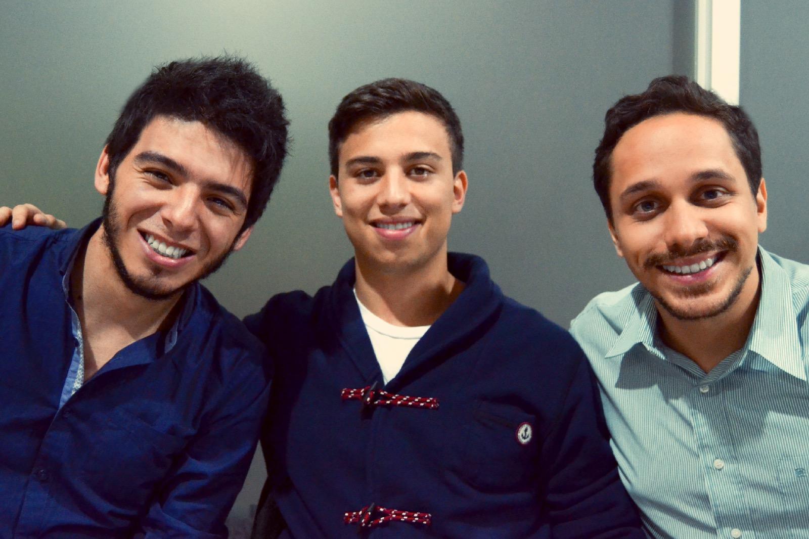 Víctor Chacón, David Díaz y Juan Diego Jaén Castro, de izquierda a derecha. Ellos fueron los tres participantes. Foto: Víctor Chacón.