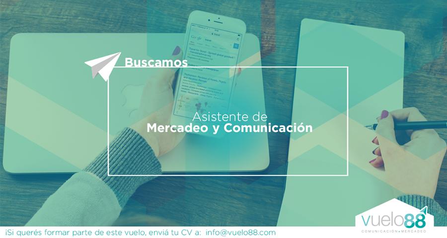 Asistente de Mercadeo y Comunicación